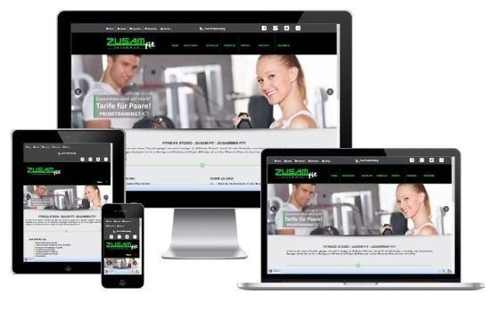 Website für Fitness-Studio