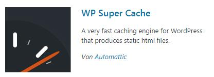 WordPress WP Super Cache Plugins